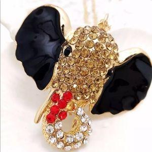 Gold Filled CZ Elephant Necklace